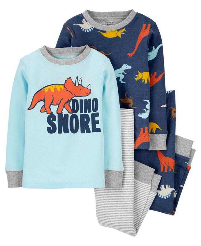 Carter's - Carters Baby Boy 4-Piece Dino Snore 100% Snug Fit Cotton PJs