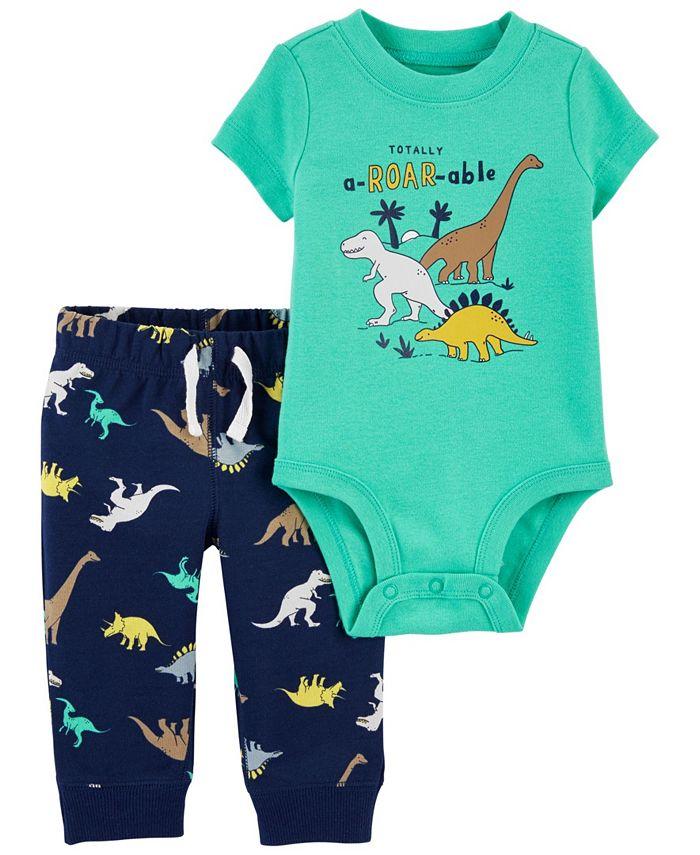 Carter's - Carters Baby Boy 2-Piece Dinosaur Bodysuit Pant Set