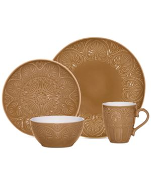 Pfaltzgraff Dolce Tan 4-Piece Place Setting