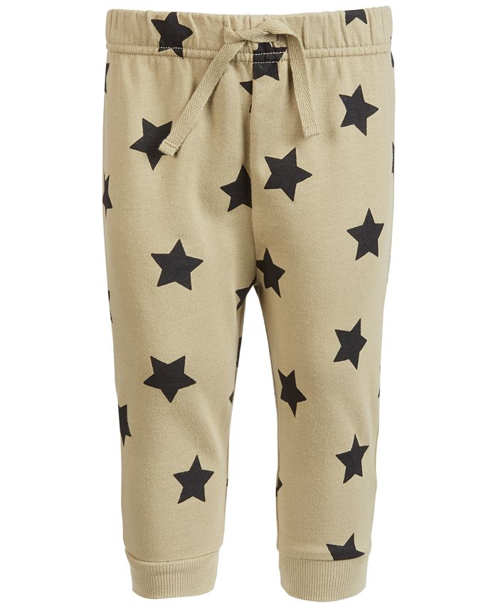 First Impressions - Baby Boys Star-Print Jogger Pants
