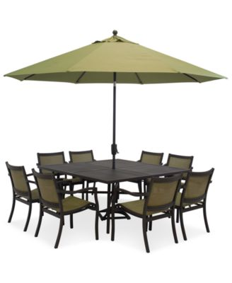 Paradise Outdoor 9 Piece Set 64 Square Dining Table And