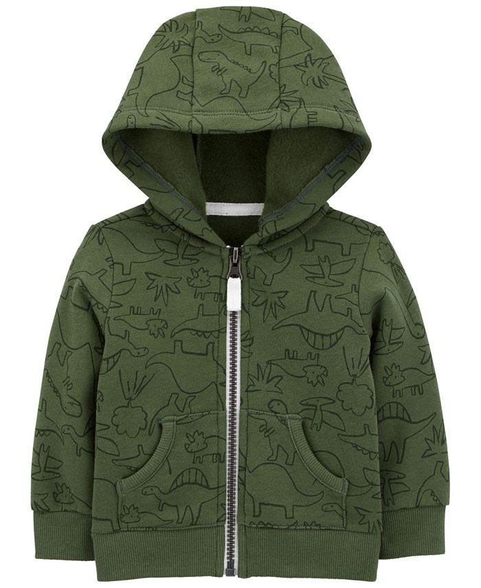 Carter's - Carters Baby Boy Dinosaur Zip-Front Fleece Jacket