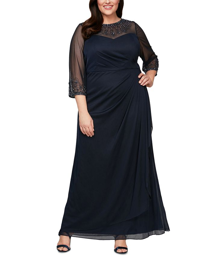 Alex Evenings - Plus Size Embellished Sweetheart Gown