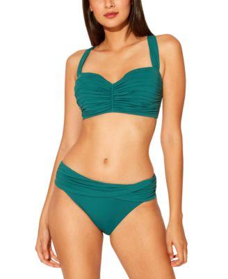 Bleu Rod Beattie Shirred Underwire D-Cup Bikini Top