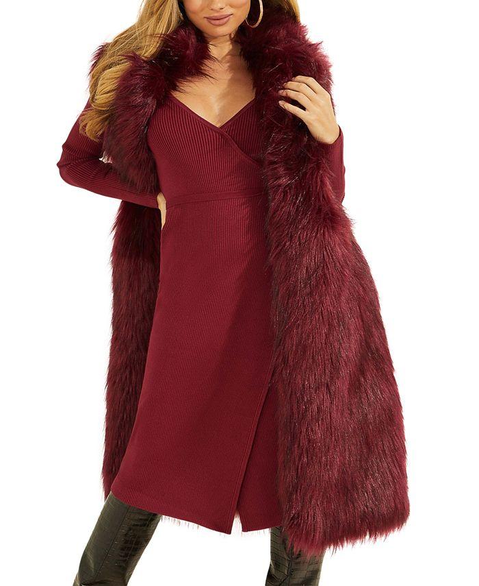 GUESS - Lushious Faux-Fur Vest