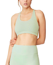 COTTON ON Women's Workout Cut Out Crop Bra