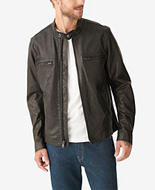 Lucky Brand Men's Waxed Leather Bonneville Jacket