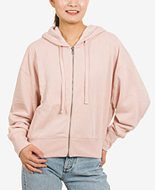 Hippie Rose Juniors' Zip-Front Hoodie Sweatshirt