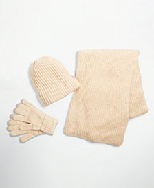 Style & Co Rib Solid Scarf, Beanie and Gloves Collection, Created for Macy's