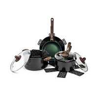 Deals on Brooklyn Steel Co. Satellite 12-Pc. Nonstick Cookware Set