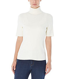 Jones New York  Short Sleeve Turtleneck Sweater
