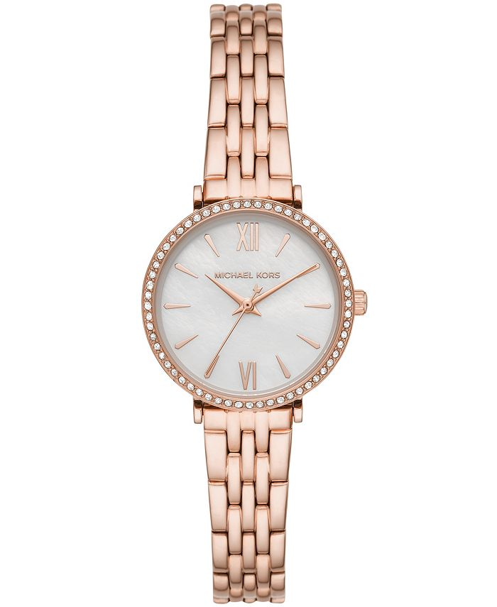 Michael Kors - Women's Maisie Three-Hand Rose Gold-Tone Stainless Steel Bracelet Watch 28mm