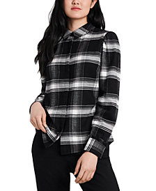 Riley & Rae Nina Plaid Flannel Shirt, Created for Macy's
