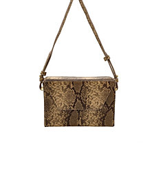 La Regale Python Box Crossbody