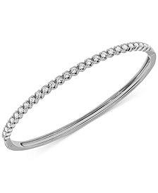 Diamond Bangle Bracelet (1 ct. t.w.) in 10k White Gold