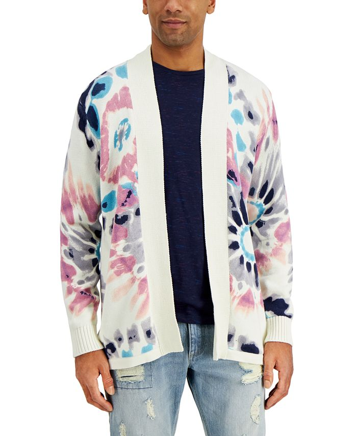 Sun + Stone - Men's Tie-Dye Cardigan Sweater