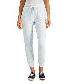 Style & Co Cloudy Tie-Dye Jogger Pants, Created for Macy's
