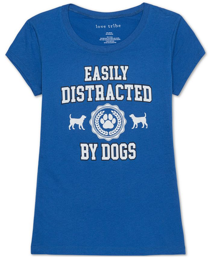 Love Tribe - Juniors' Dogs Graphic T-Shirt