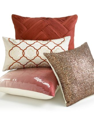 "INC International Concepts Martini Paprika 20"" Square Decorative Pillow"
