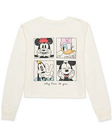 Disney Juniors' Mickey Mouse Graphic-Print Top