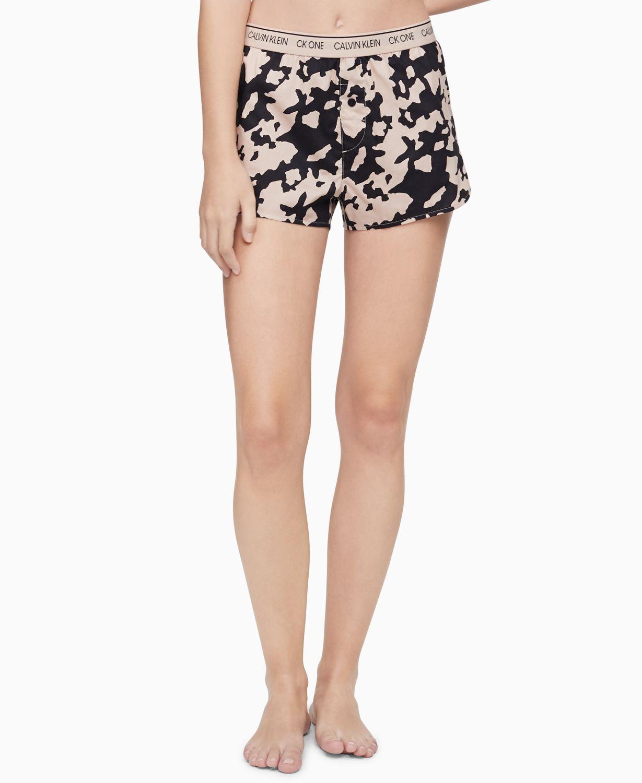 Calvin Klein CK One Printed Cotton Sleep Shorts & Reviews - Bras, Panties & Lingerie - Women - Macy's