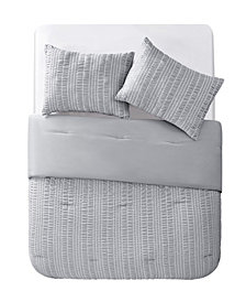 VCNY Home Delaney Seersucker Stripe 3 Piece Comforter Set, King
