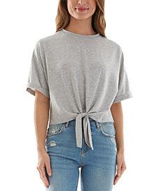 BCX Juniors' Tie-Front T-Shirt