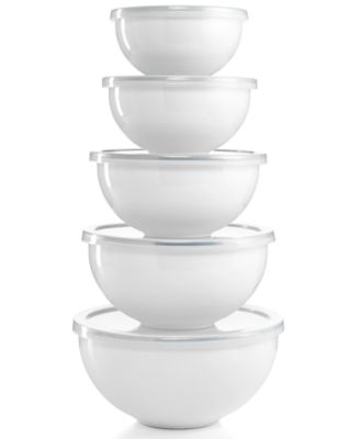 Martha Stewart Collection Enamel on Steel 10 Piece Mixing Bowl Set