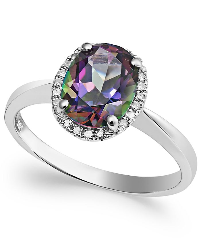 Macy's - 14k White Gold Mystic Topaz (2 ct. t.w.) and Diamond Accent Ring