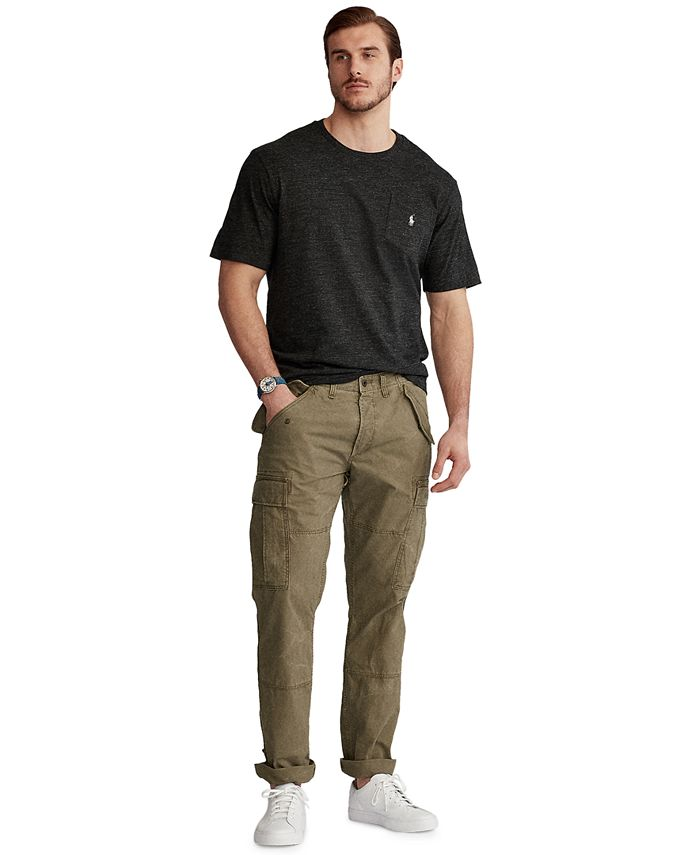 Men's Big & Tall Cotton Canvas Cargo Pants