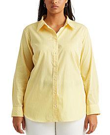 Lauren Ralph Lauren Plus Size Pinstripe Top