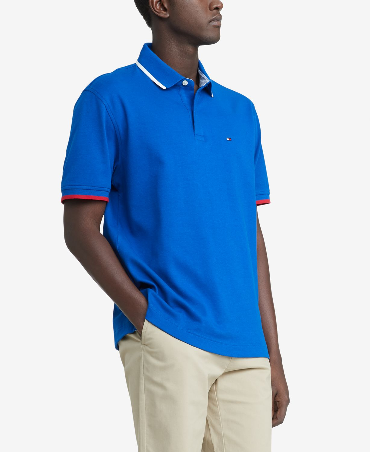 Tommy Hilfiger Men's Big & Tall Classic-Fit TH Luxe Hopkins Polo & Reviews - Polos - Men - Macy's