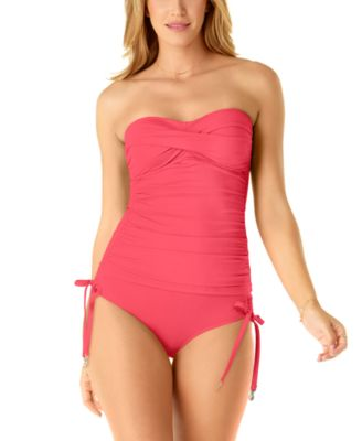 Twist-Front Ruched Tankini Top