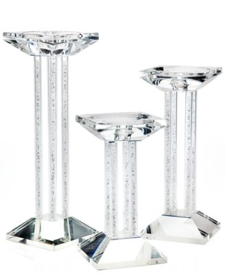 Lighting By Design Set of Three Bling Pillar Candlesticks