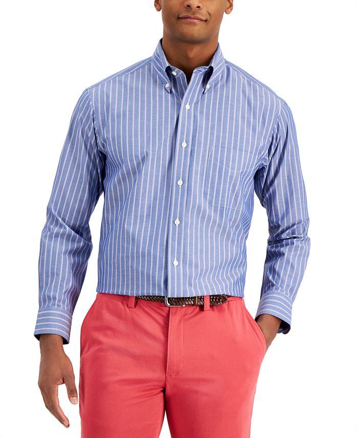 Club Room - Men's Classic-Fit Pinstripe Dress Shirt