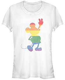 Juniors Disney Mickey Classic Rainbow Mickey T-shirt