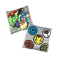 Deals on Disney Avengers 12-inchx12-inch 2-Pk Squishy Dec Pillows