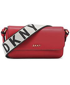 DKNY Winonna Flap Leather Crossbody