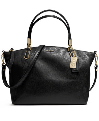 coach small kelsey satchel in leather coach