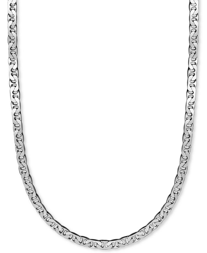 """Macy's - Men's Sterling Silver Necklace, 22"""" 8mm Marina Chain"""