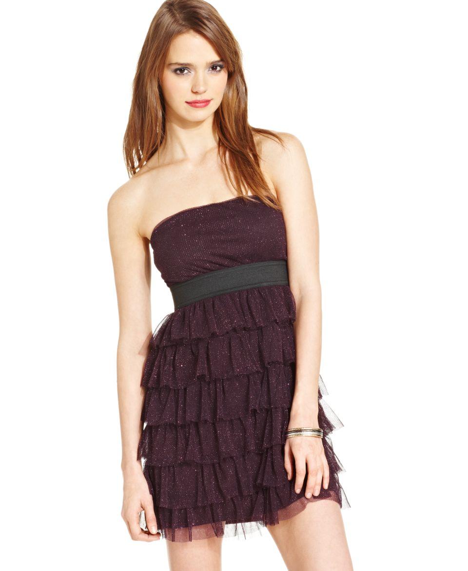ECI Chevron Print Boat Neck Shift Dress   Dresses   Women