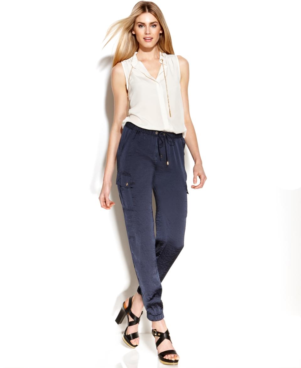MICHAEL Michael Kors Sleeveless Blouse & Slim Leg Cargo Pants   Women