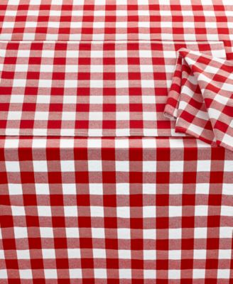"Bardwil Caf® Check 60"" x 84"" Tablecloth"