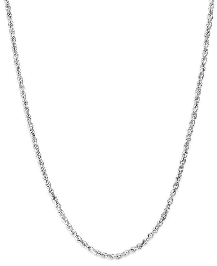 Macy's - 14k White Gold Chain Necklace