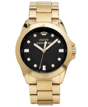 Juicy Couture Women's Stella Gold-Tone Stainless Steel Bracelet Watch 36mm 1901122