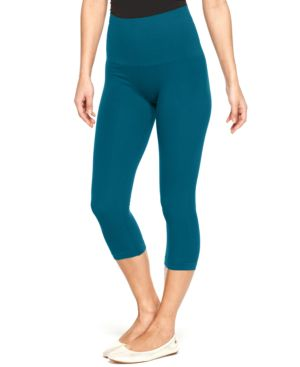 Star Power by Spanx Tout & About Wide Waistband Seamless Shaping Capri Leggings