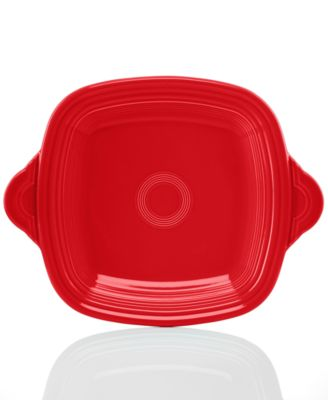 Fiesta Scarlet Square Handled Tray