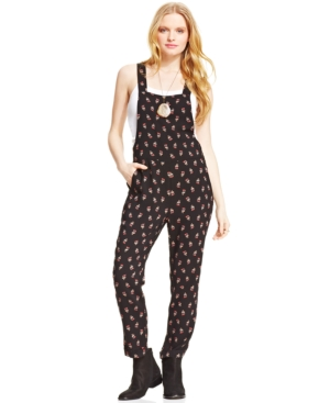 American Rag Floral-Print Overalls $ 19.99