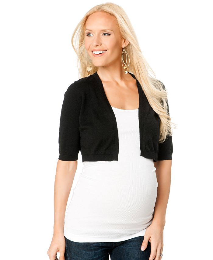 Motherhood Maternity - Cropped Elbow-Sleeve Sweater