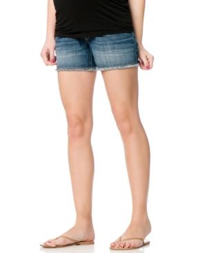 Motherhood Maternity Frayed Denim Shorts plus size,  plus size fashion plus size appare